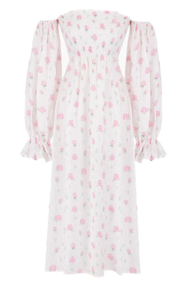 Sleeper Atlanta Linen Dress - Roses @ Hero Shop