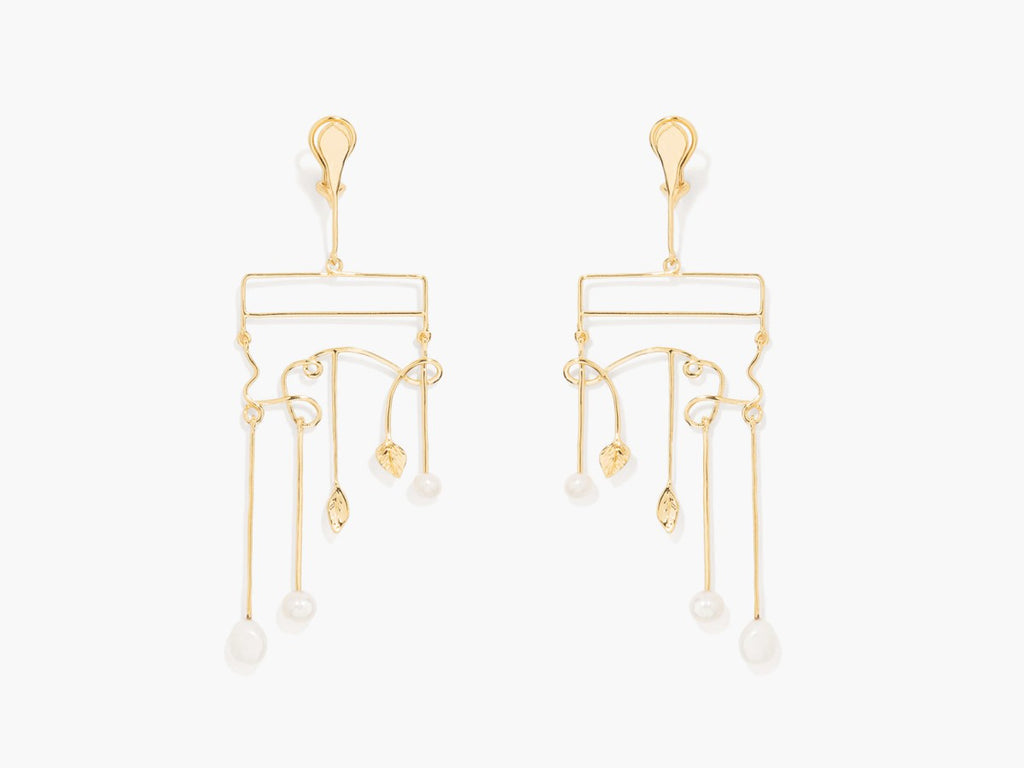 Sirocco Abstract Pearl Earrings