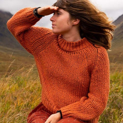 Mollusk Surf Shop Cotton Teddy Sweater - Redwood @ Hero Shop SF