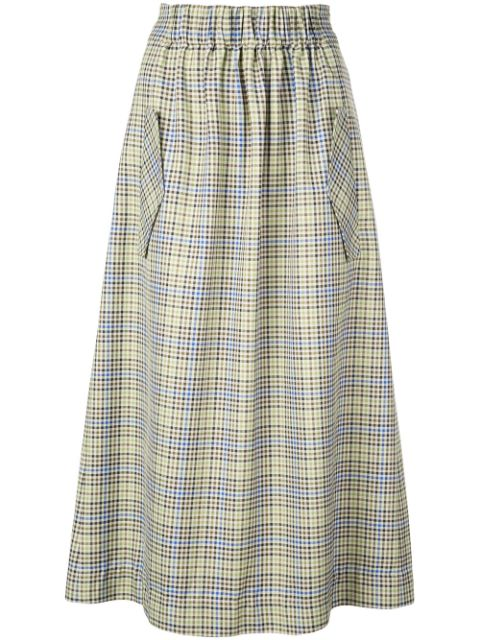 Tibi Smocking Waistband Skirt