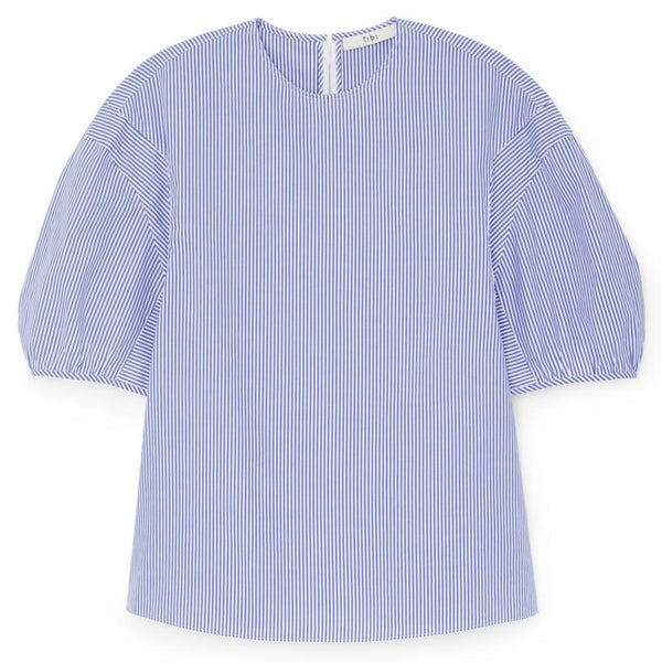 Tibi Balloon Sleeve Crewneck Top