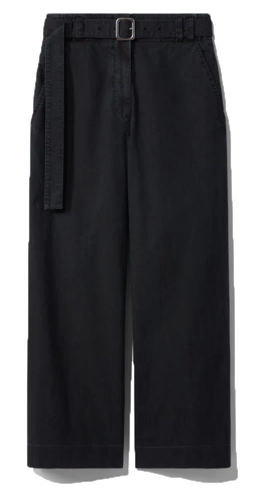 Washed Cotton Belted Pant