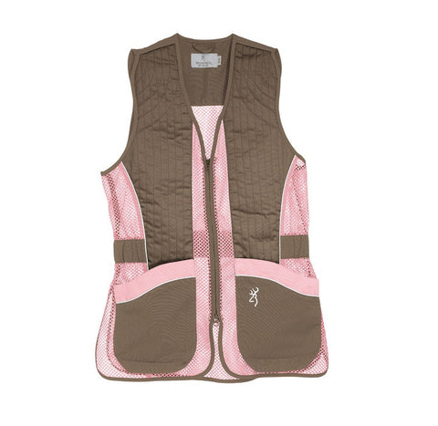 Browning For Her Sporter II Pink/Brown Shooting Vest
