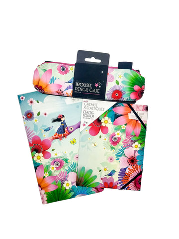 Girl with Flowers - Stationery Pack