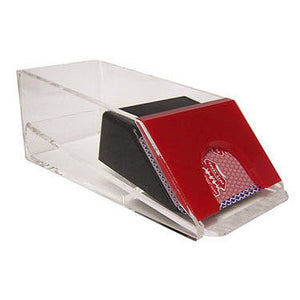 Casino Blackjack Dealer Shoe - 4 Deck Red - Casino Supply