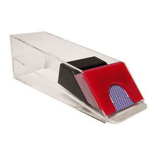Casino Blackjack Dealer Shoe - 8 Deck Red - Casino Supply