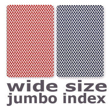 Poker Size Jumbo Index Copag Export Plastic Playing Cards 2-Deck Set Red//Blue