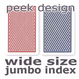 Copag Dual Index Red & Blue No Peek Wide - Jumbo Index Playing Cards - Casino Supply