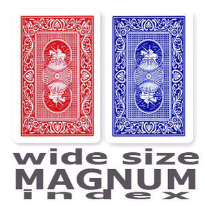 Copag Red & Blue  Wide - Magnum Index Playing Cards - Casino Supply