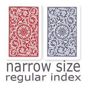 Copag 1546 Red & Blue Narrow - Regular Index Playing Cards - Casino Supply