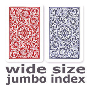 Copag 1546 Red & Blue Wide - Jumbo Index Playing Cards - Casino Supply