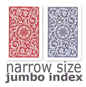 Copag 1546 Red & Blue Narrow - Jumbo Index Playing Cards - Casino Supply