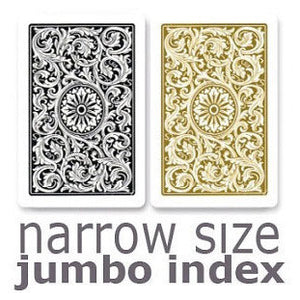 Copag 1546 Black & Gold Narrow - Jumbo Index  Playing Cards - Casino Supply