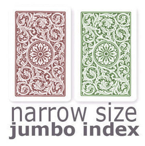 Copag 1546 Green & Burgundy  Narrow - Jumbo Index Playing Cards - Casino Supply