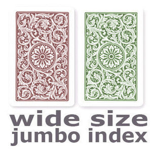 Copag 1546 Green & Burgundy  Wide - Jumbo Index Playing Cards - Casino Supply