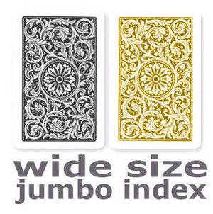 Copag 1546 Black & Gold Wide -Jumbo Index Playing Cards
