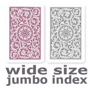 Copag 1546 Purple & Grey Wide -Jumbo Index Playing Cards