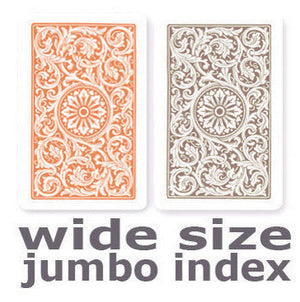 Copag 1546  Orange & Brown Wide - Jumbo Index Playing Cards