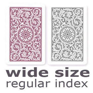 Copag 1546 Purple & Grey Wide -Regular Index Playing Cards
