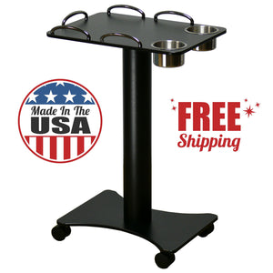 Deluxe Metal Poker Drink Cart - Casino Supply