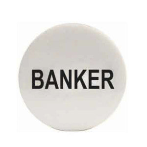 Banker Puck - 2 inch x 1/4 inch - Casino Supply