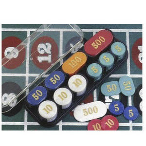Poker Chips with Rack - Simulated Pearl 200 pcs. - Casino Supply