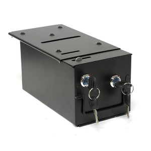 Homestyle Drop Box  w/2 Locks & Locking Top Plate - Casino Supply - 1