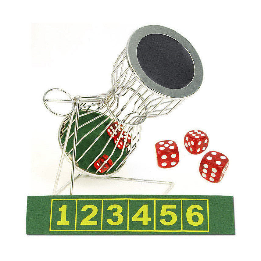 Chuck - A - Luck 10 inch Cage, Dice & Laydown - Casino Supply