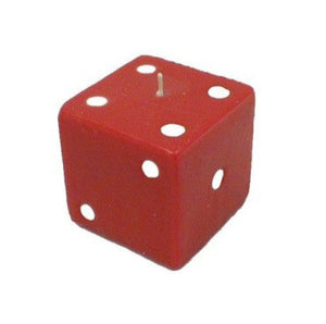 Red Dice Candle 3 1/4 x 3 1/4 Inches - Casino Supply