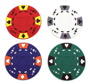 Poker Chip Drink Coasters - (Pkg./4) - Casino Supply
