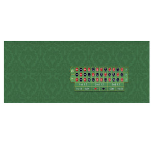 Monaco - Roulette Table Layout - GREEN - Casino Supply - 2