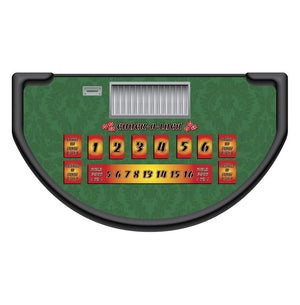 Monaco - Chuck-A-Luck Table Layout - GREEN - Casino Supply