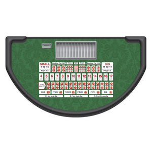 Monaco - Sic Bo Table Layout - GREEN - Casino Supply - 1