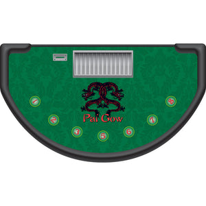 Monaco - Pai Gow Table Layout - GREEN - Casino Supply - 1