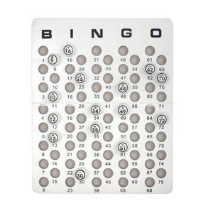 Bingo Masterboard for Ping Pong Size Balls - Casino Supply