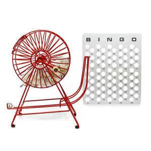Professional Rubberized Bingo Set (Ping Pong Style Balls) - Casino Supply - 1