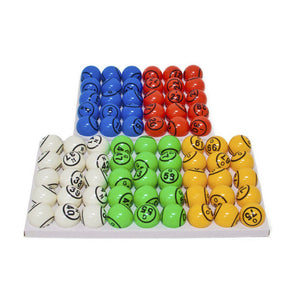Bingo Balls - Colored & Coated 2 Sided - 1.5 inch (Not For Blowers) - Casino Supply