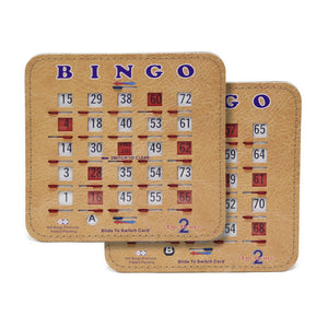Senior Friendly Tabbed Bingo Double Action Duece Shutter Slide Cards - Casino Supply - 1