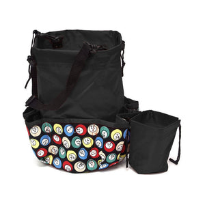 10 Pocket Bingo Ball Designer Bingo Bag with Coin Purse - Casino Supply - 1