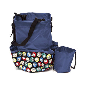 10 Pocket Bingo Ball Designer Bingo Bag with Coin Purse - Casino Supply - 2