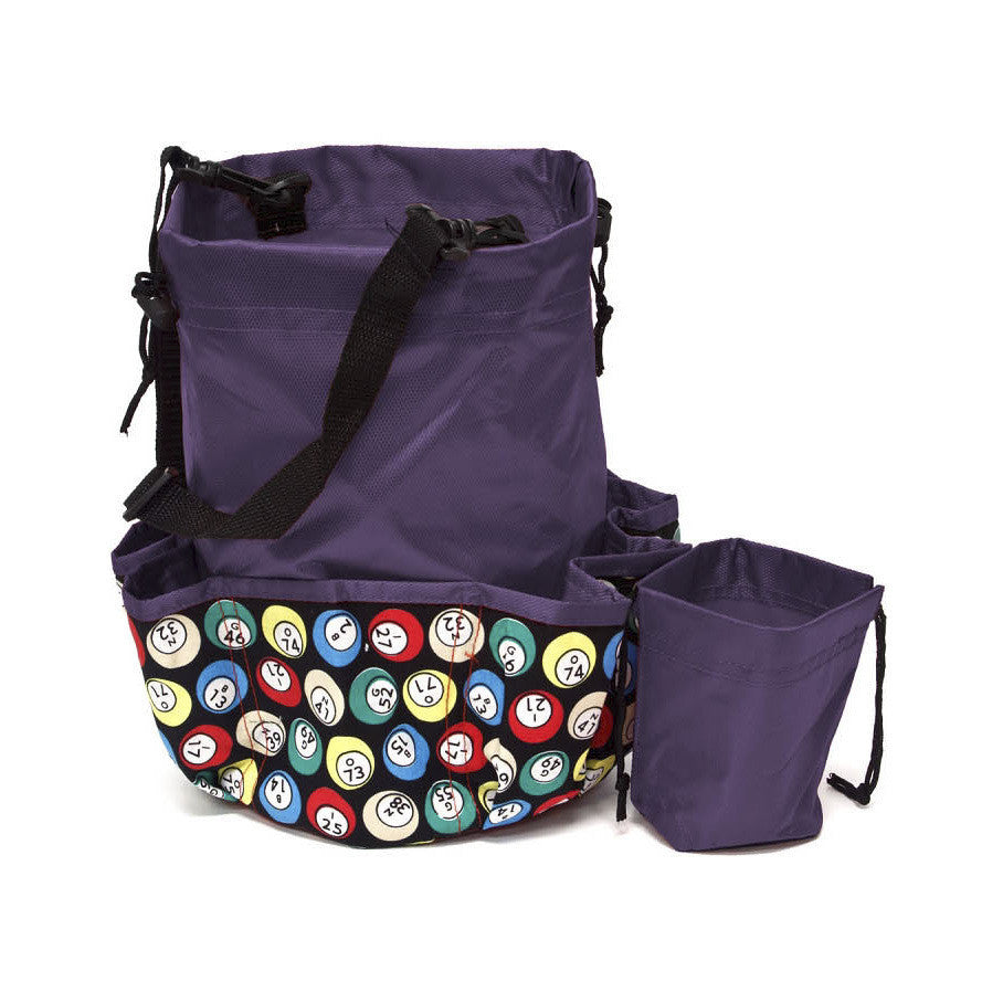 designer coin purse pd1e  10 Pocket Bingo Ball Designer Bingo Bag with Coin Purse