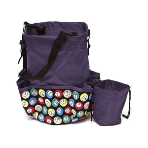 10 Pocket Bingo Ball Designer Bingo Bag with Coin Purse - Casino Supply - 4