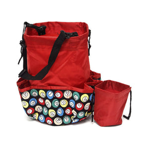 10 Pocket Bingo Ball Designer Bingo Bag with Coin Purse - Casino Supply - 3