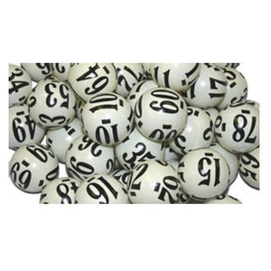 Casino Grade Keno Balls Numbered 1-80 - Casino Supply