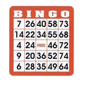 Reusable Bingo Cards (Pkg. 100) - Casino Supply