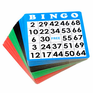 Multi-Color Reusable Bingo Cards (Pkg. 100)