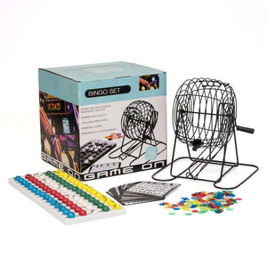 Large Metal Party Bingo Cage Set - Casino Supply
