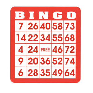 Reusable Bingo Cards (Pkg. 50) - Casino Supply