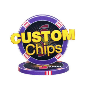 Custom 10 Gram CasinoTek Ceramic Chips (25/Pkg) - Casino Supply - 1