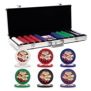 500 pc. 7.5g Showgirl Poker Chip Set with Aluminum Case